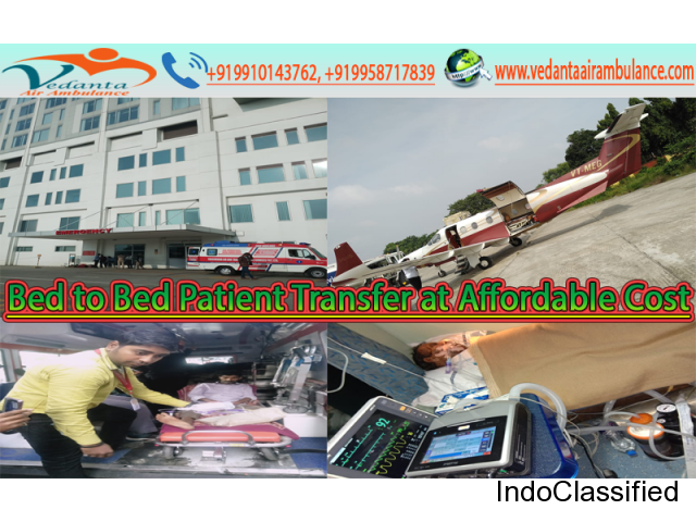 Get Emergency Air Ambulance Services in Jaipur by Vedanta Air Ambulance