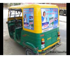 Auto rickshaw ad in delhi