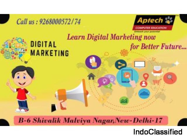 Digital Marketing provided by Aptech Malviya Nagar
