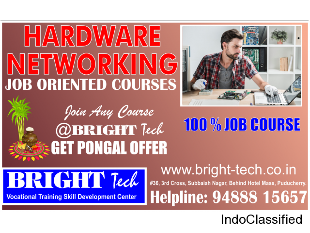 join Hardware Service training at bright tech & get Pongal Offer