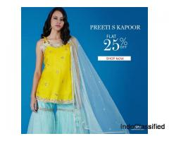 Flat 25% Off on Designer Kurta Sets