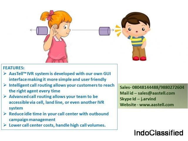 Never lose a Business Lead!! Get Smart & Instant Responses from AasTell IVR!!