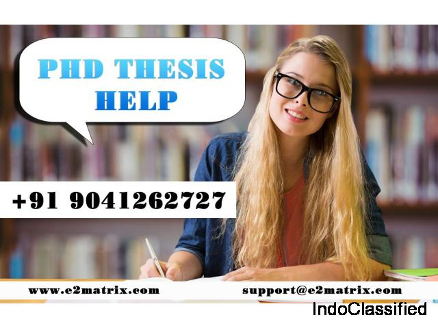 Phd Thesis Help in Chandigarh
