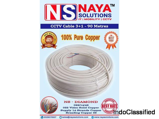 CCTV Cable 3+1 Pure Copper