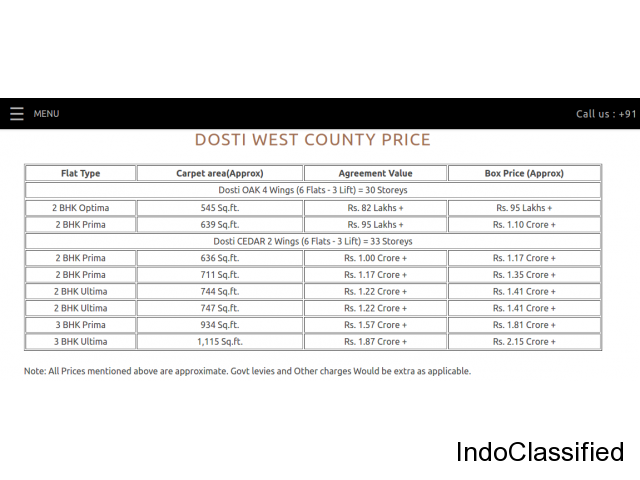 Dosti West County Offers best investment opportunities In Mumbai