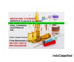 Homeopathic medicine Courier Service All Punjab Chandigarh to USA Canada UK Australia