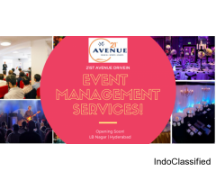 Best Event management Service provider in Hyderabad - 21st Avenue