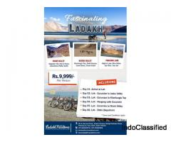 Fascinating Ladakh Tour Package Starting at Rs. 9,999/-