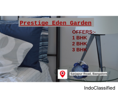 Avails the Best Real Estate project as Prestige Eden Garden