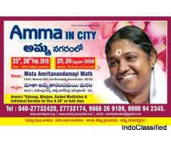 Amma, Mata Amritanandamayi Devi in Hyderabad