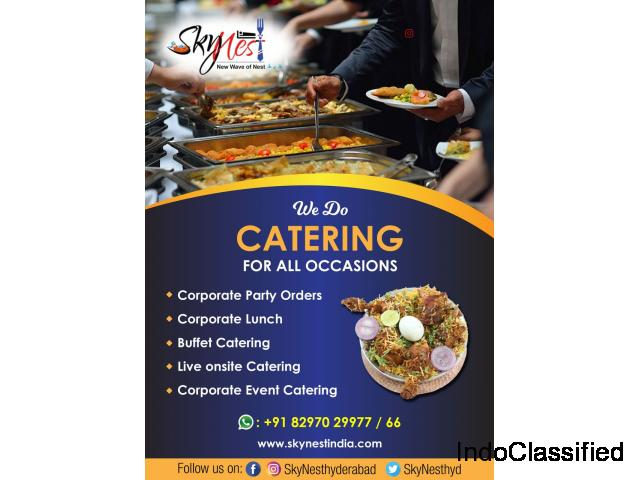 Outdoor catering services in Gachibowli | Corporate lunch Services