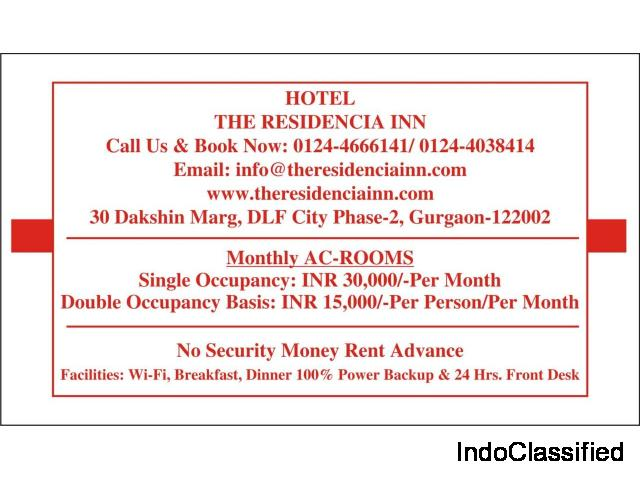 Monthly AC Rooms Gurgaon Near Cyber City