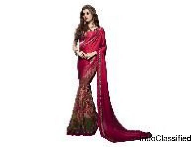 Sarees Wholesaler, Designer Gown - Bandhani Sarees Gujcart