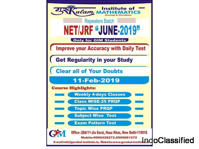 CSIR NET JRF Mathematics Coaching Institute in Delhi