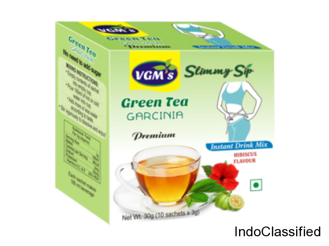 Buy Best Green Tea with Garcinia Hibiscus Flavour in Coimbatore - VGM Health Care