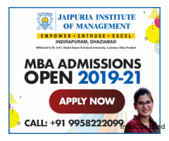 Jaipuria Ghaziabad MBA Admissions Open 2019