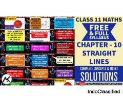 Complete Syllabus for Straight Lines Class 11 Maths