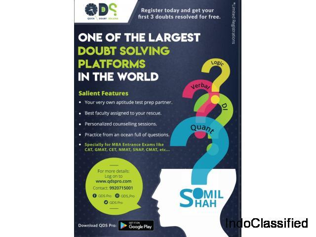 QDS Pro - Fastest 24 x 7 Online Doubt Solving Platform for Entrance Exams