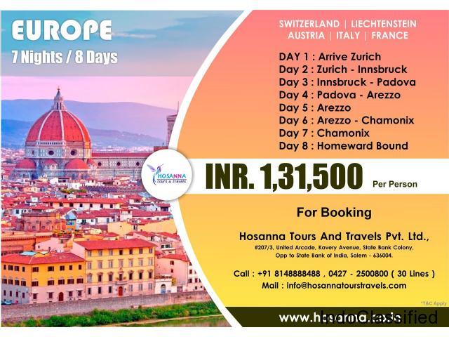 Europe (7 Nights/ 8 Days) International Tour Package