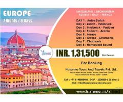 Europe (7 Nights/ 8 Days) International Tour Package