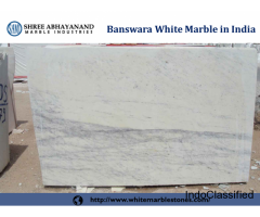 Banswara White Marble Exporter in India Shree Abhayanand Manufacturer of Banswara white Marble.