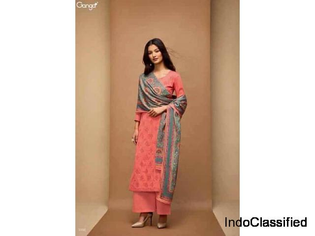 Exclusive Discount Offers on Ganga Cotton Suits Online