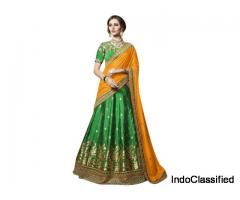 Purchase Green Lehengas From Mirraw In Lowest Cost