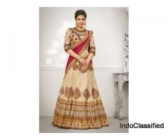 Grab Attractive Discounts On Beige Lehengas At Mirraw