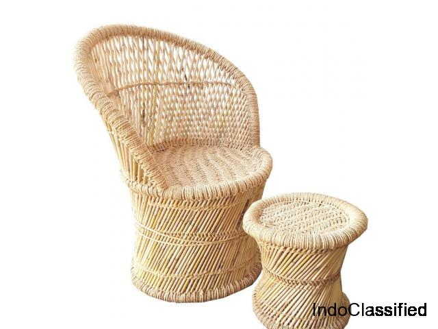 Hand made bamboo chairs, stools, sofa, table