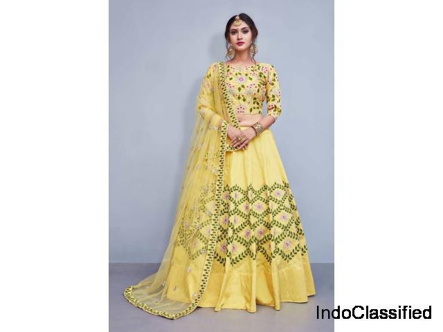 Amazing Yellow Lehenga Designs At Mirraw | Shop Now