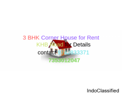 3 BHK Corner House available for Rent