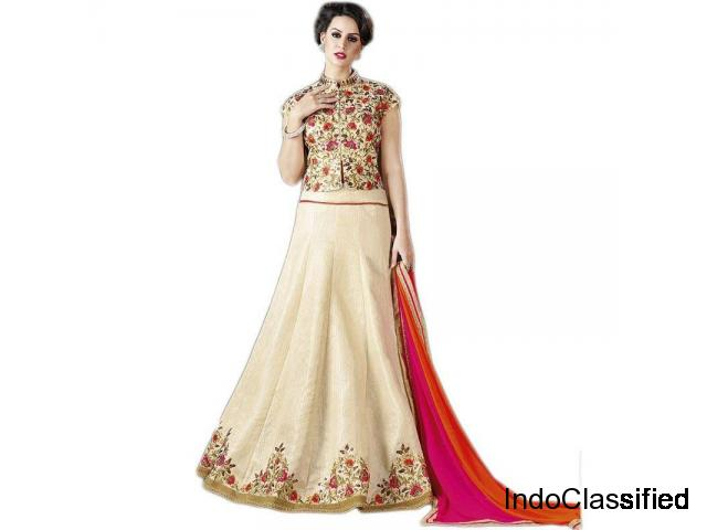 Amazing Collection Of Cream Lehengas At Best Prices Visit Mirraw