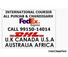 DHL Courier Services Chandigarh Panchkula to Spain Germany Italy China Worldwide