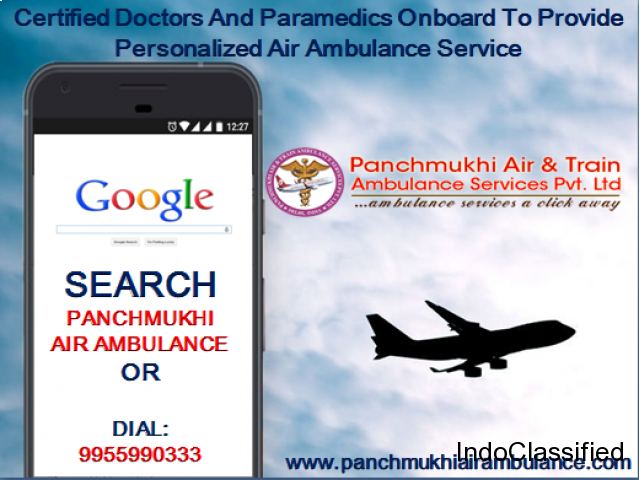 Panchmukhi Air Ambulance Service in Delhi to Bed to Bed Service 24 Hours