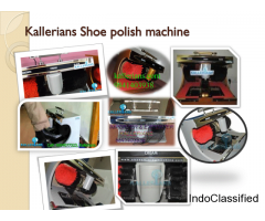 Shoe shining machine, shoe polish, leather shoes black & brown..... kallerians