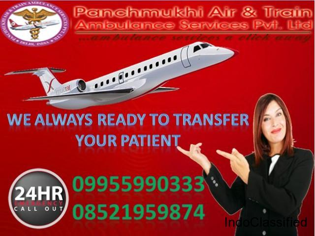 Get Emergency Patient Rescue Air Ambulance in Bangalore by Panchmukhi