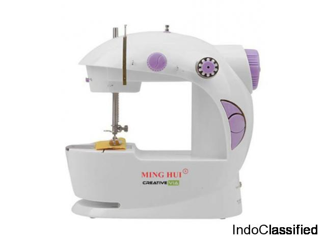 Multifunctional Sewing Machine for Home with Focus Light (Blue)