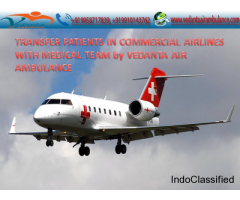 Vedanta Air Ambulance Service from Ranchi to Delhi with the Newest Equipment