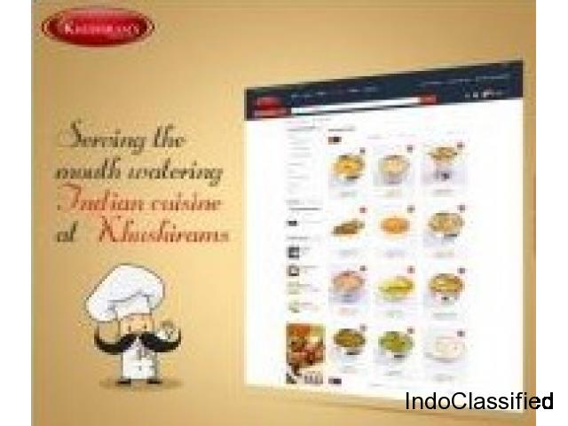 Order food online in Ludhiana with free delivery from Khushiram Restaurant