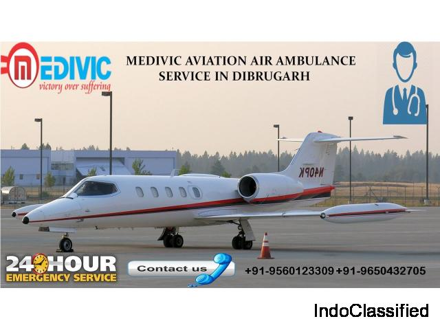 Air Ambulance service in Dibrugarh by Medivic Aviation