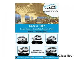 Pune to Mumbai Airport Cab at 2,200 Inc Toll | Pawar Travels