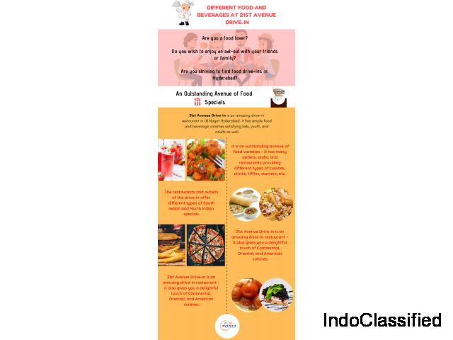 Best Fast Food Restaurants In Hyderabad - 21st Avenue DriveIn