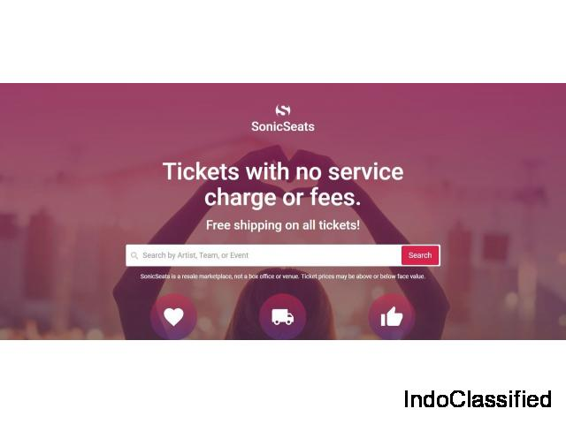 Tickets without service charges or fees - Sonicseats