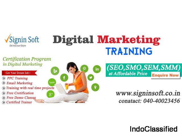 Digital Marketing Training in hyderabad - SigninSoft