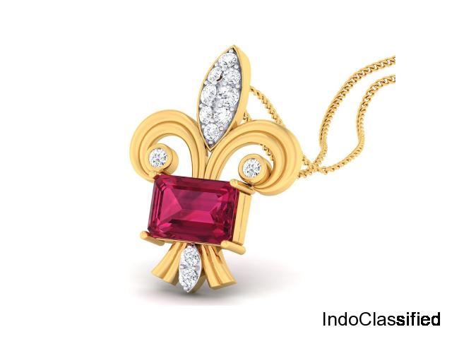 Buy latest designer diamond pendant online | Buy Chestnut Diamond Pendant