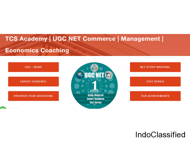 TCS Academy | UGC NET Commerce | Management | Economics Coaching