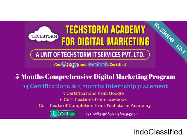 Techstorm Academy For Digital Marketing Is The Best Digital Marketing Institute In Kolkata