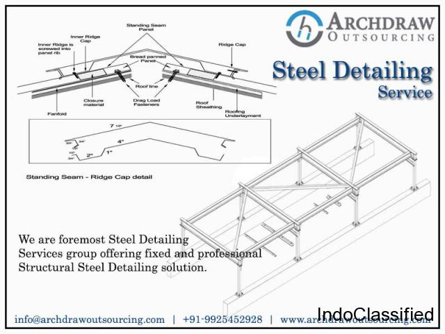 Structural Steel Detailing Services | Steel Fabrication Drawing - Archdraw Outsourcing