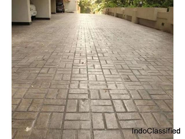 Stamped Concrete Flooring Bangalore, Call: +91 98451 99670