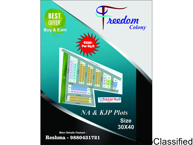 Begin this New Year with daily earning buy any NA approved plots by ECLUSIVE offer price!!